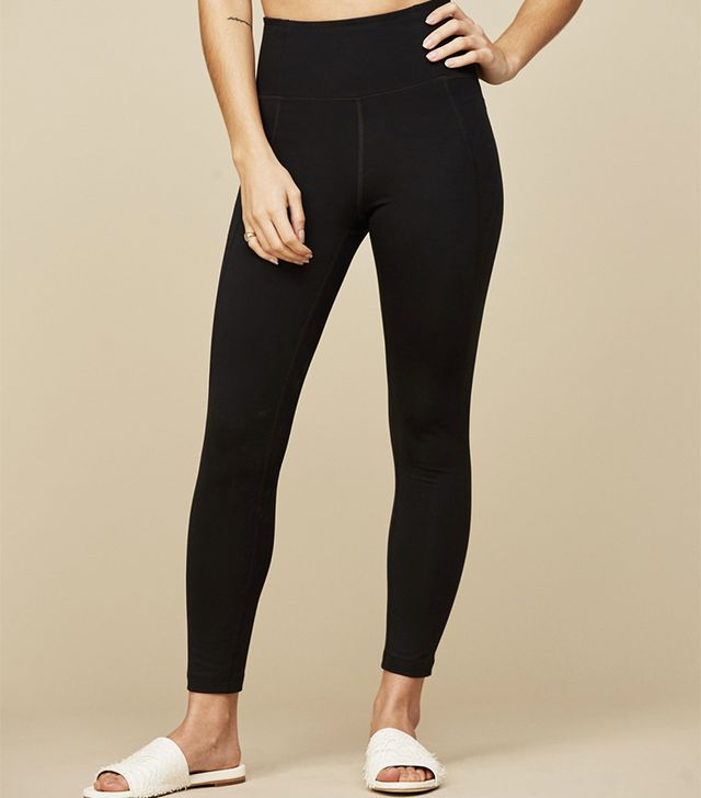 Girlfriend Collective Black Girlfriend High-Rise 3/4 Leggings
