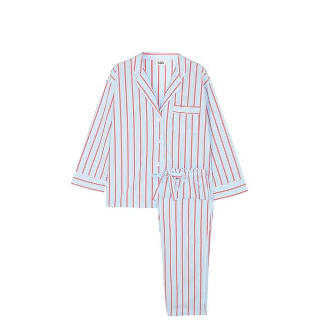 Marina Striped Cotton Pajama Set