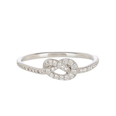 Pavé Love Knot Ring