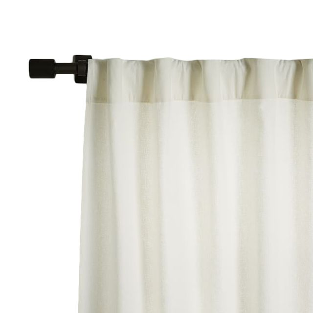 Linen Cotton Pole Pocket Curtain + Blackout Panel