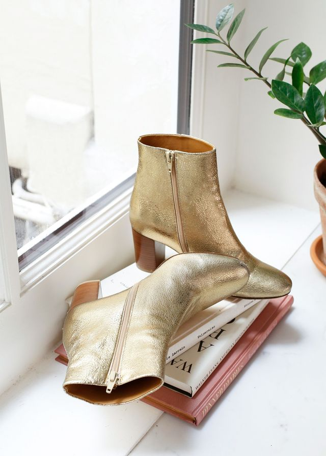 Sézane Lea Boots in Gold
