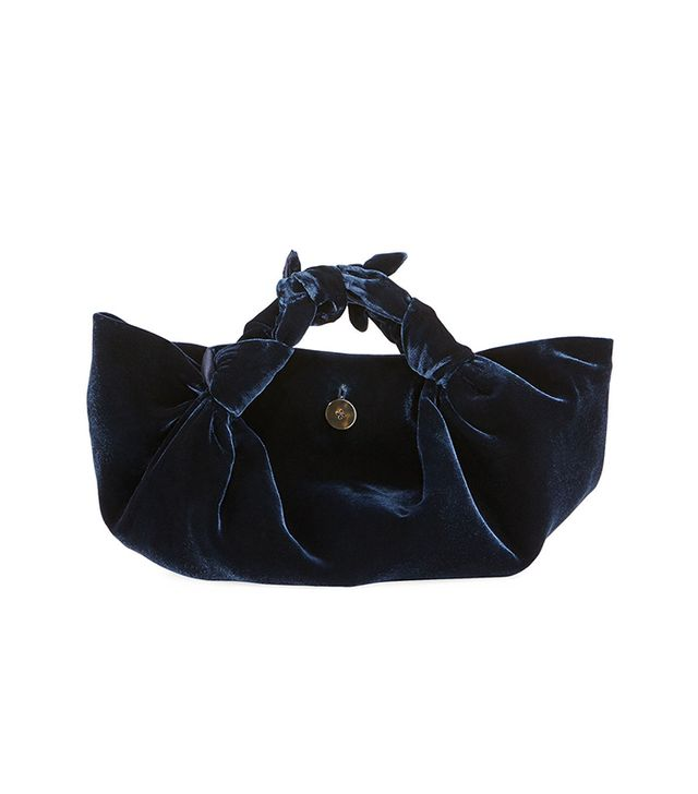 The Ascot Small Velvet Hobo Bag