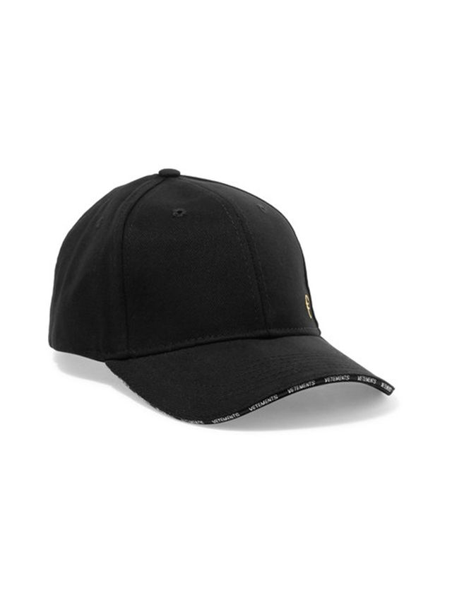 Vetements Embroidered Cotton-Twill Cap