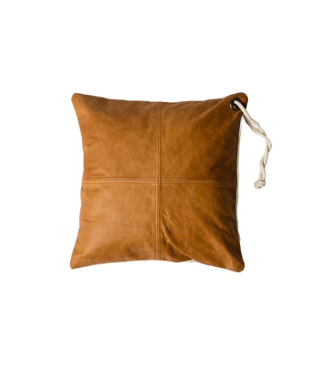MJG Easy Leather Square Cushion
