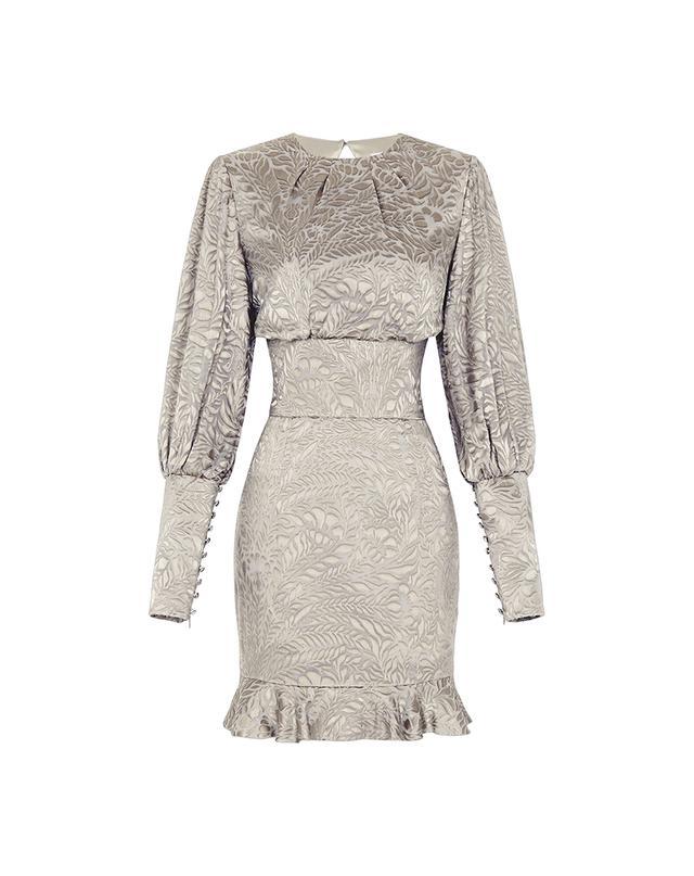 Mischa Cassandra Burnout Mini Dress