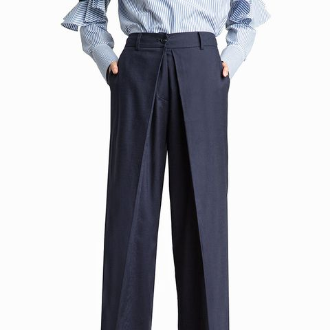 Dylan Navy Linen Layered Pants