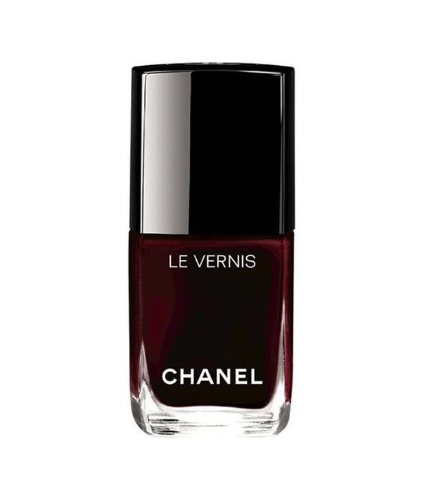 chanel Le Vernis Longwear Nail Color in Rouge Noir - nail polish colors for fall