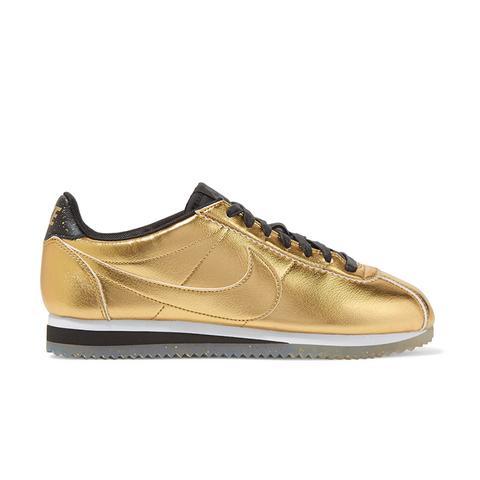 Classic Cortez Metallic Leather Sneakers