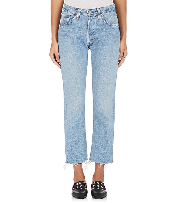 Women's High-Rise Crop Flare Jeans