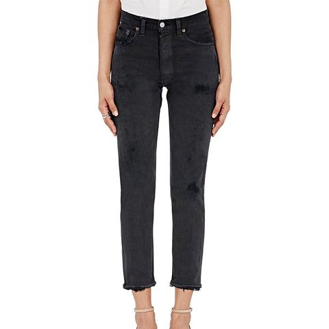 Women's Black High Rise Crop Jeans