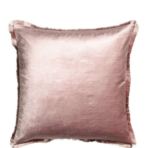 Fringe-Trimmed Cushion Cover