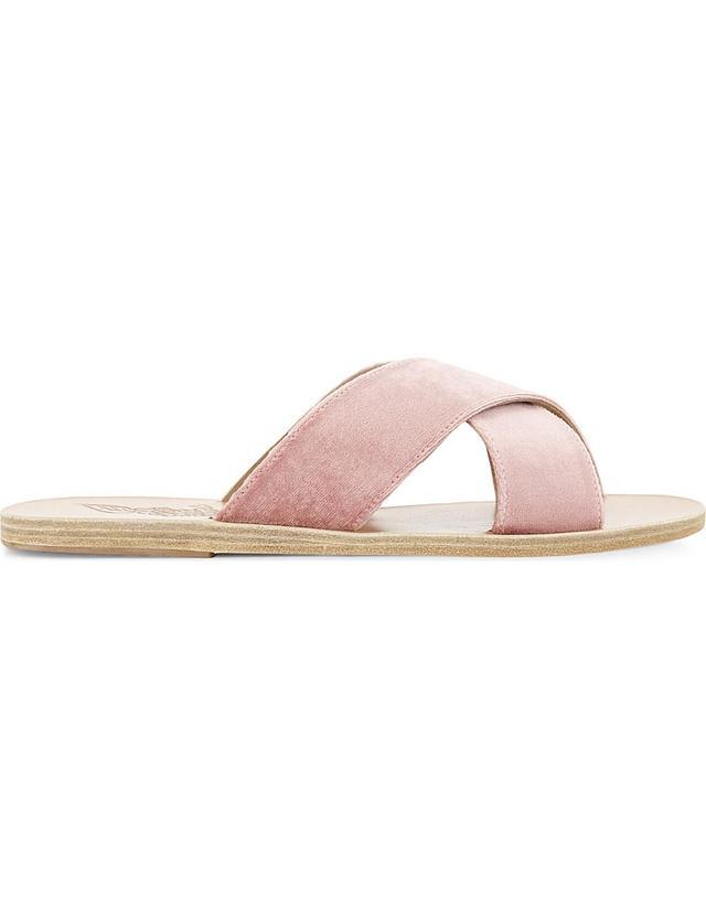 Thais leather slider sandals