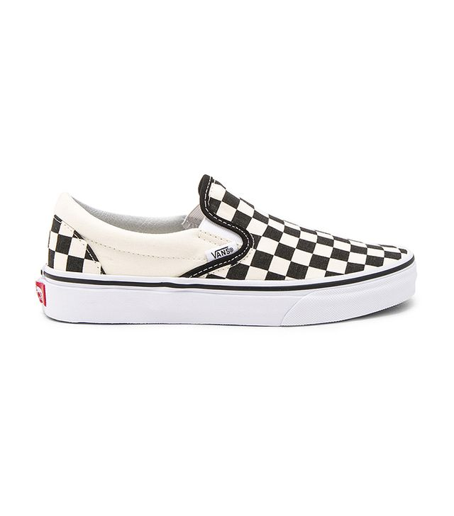 Classic Slip On in Black & White. - size Mens 10.5/Womens 12 (also in Mens 10/Womens 11.5,Mens 11.5/Womens 13,Mens 11/Womens 12.5,Mens 12/Womens 13.5,Mens 7/ Womens 8.5,Mens 9.5/Womens 11,Mens 9/Womens 10.5)