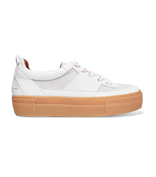 Corinne Suede And Leather Sneakers