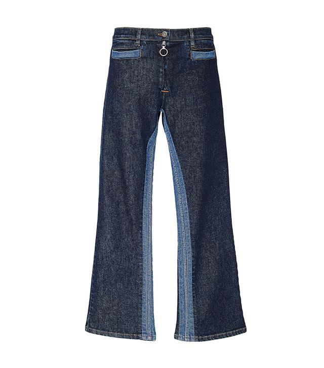 Courrèges Cropped Mid-Rise Wide-Leg Jeans