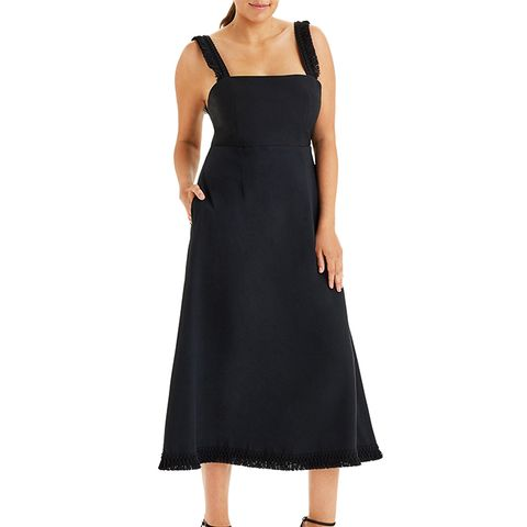 Le Frange Open Back A-Line Dress