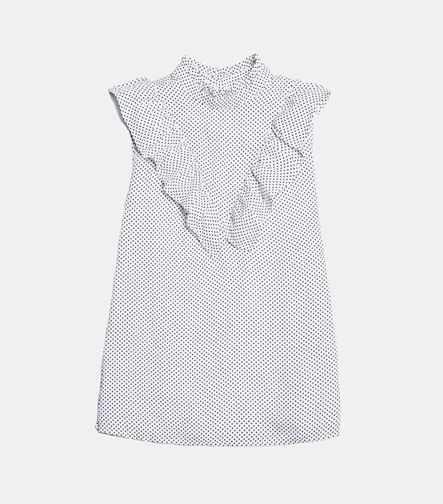 Who What Wear Ruffle V Henley Blouse