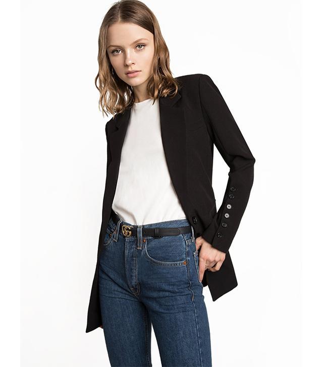 Pixie Market Black Multi Button Blazer