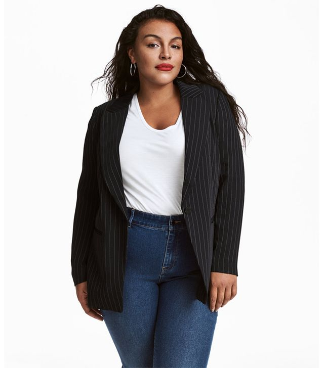 H&M+ Pinstriped Jacket