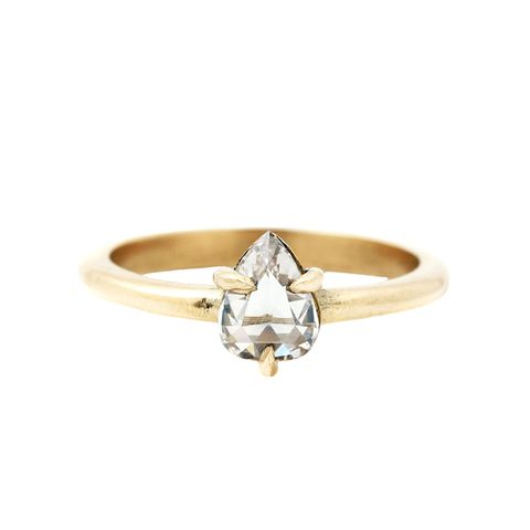 Diamond Teardrop Solitaire Ring