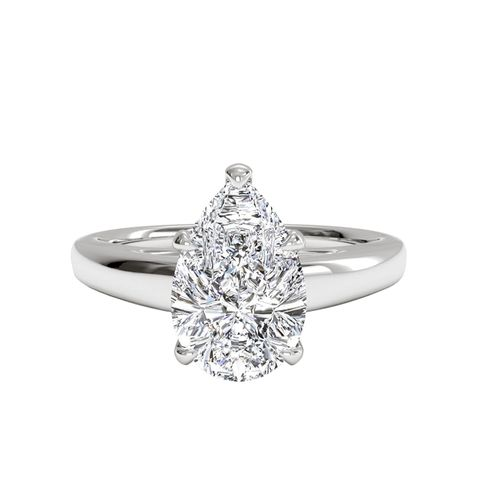 Solitaire Diamond Cathedral Engagement Ring