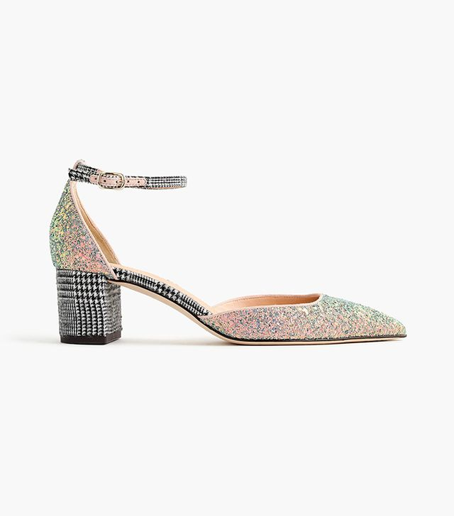 Avery glittery tweed pumps