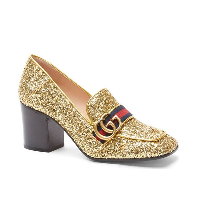 Glitter Peyton Loafer Pump