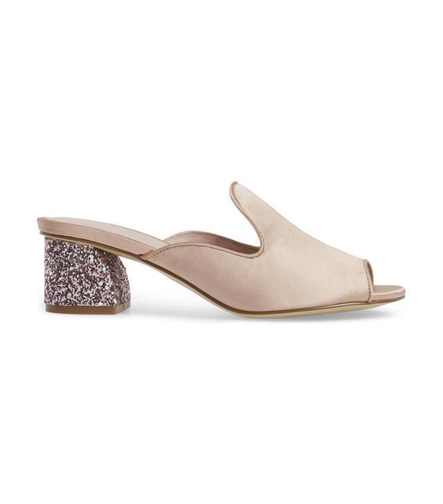 Mara Glitter Loafer Mule