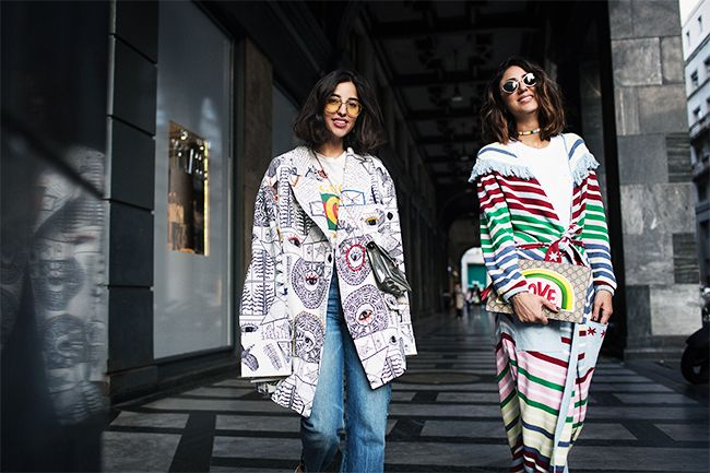 Soraya Bakhtiar and Bettina Looney at Milan Fashion Week
