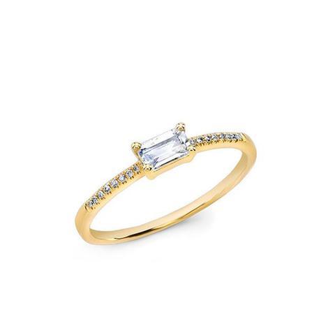 Baguette Moonstone Ring