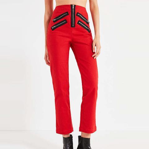 Malorie High-Rise Zipper Pants