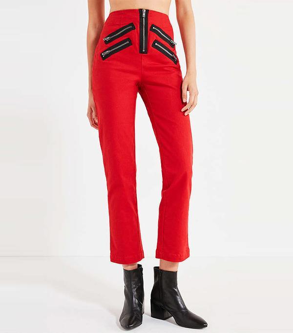 Malorie High-Rise Zipper Pant
