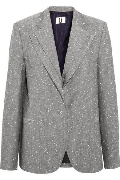 Layered Wool-blend Tweed Blazer