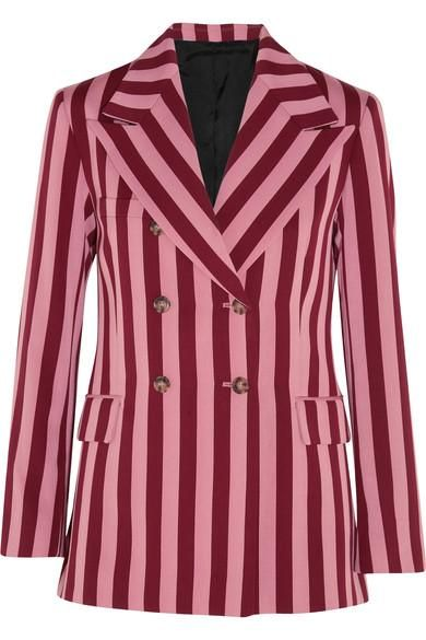Striped Crepe Blazer