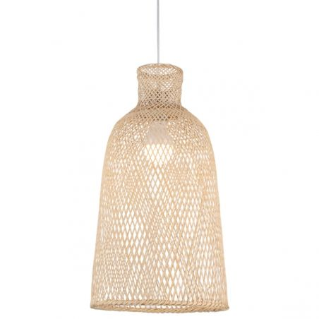 Black Woven Bamboo Pendant Shade - Natural Fiber by World Market