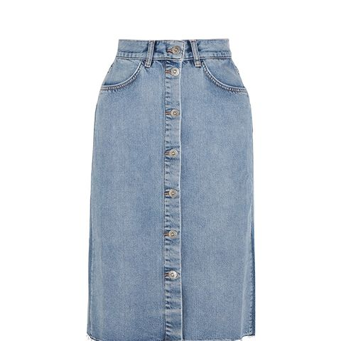 Park Denim Midi Skirt