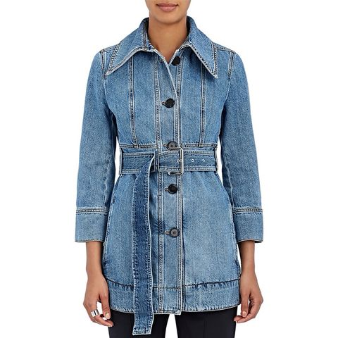Women's Cotton Denim Belted Jacket