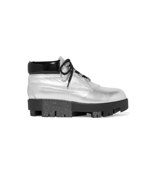 Acne StudiosTinnie Alu Metallic Ankle Boots Show Acne apractical shoe andthe brand will show you exactly how to jazz it up.