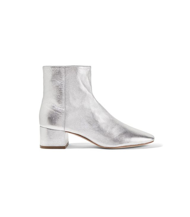 Loeffler RandallCarter Metallic Ankle Boots Thanks tothis super-practical low heel, we officially encouragereplacing all your everyday footwear with theseLoeffler Randall...