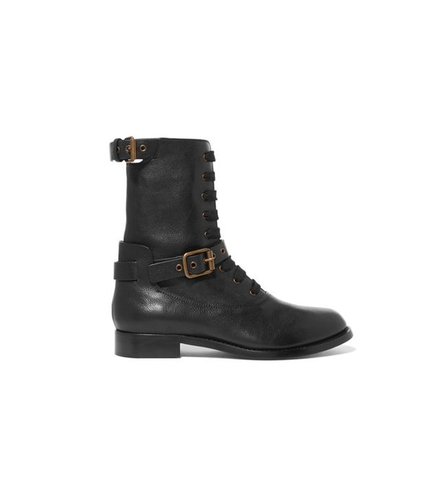 Chloé Otto Leather Biker Boots We'll be toughening up our more polished looks with these ultra-practical biker boots.