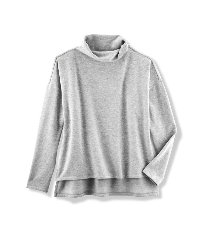 Turtleneck Cozy Layering Sweatshirt by JoyLab