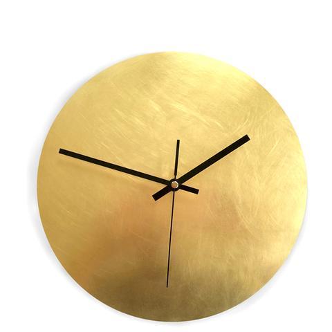 Calvill Sanded Brass Wall Clock