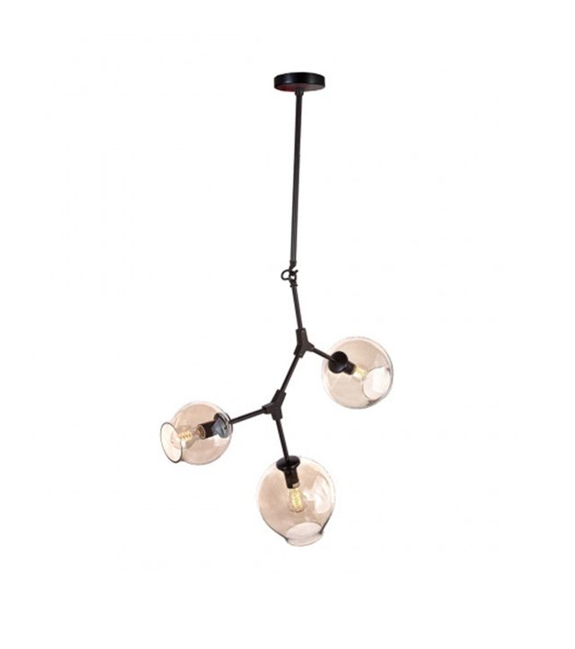 France and Sons Three Globe Branching Ceiling Lamp