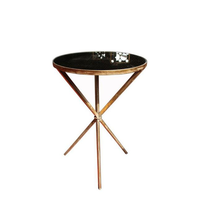 Sagebrook Home Kelly Side Table in Antique Gold