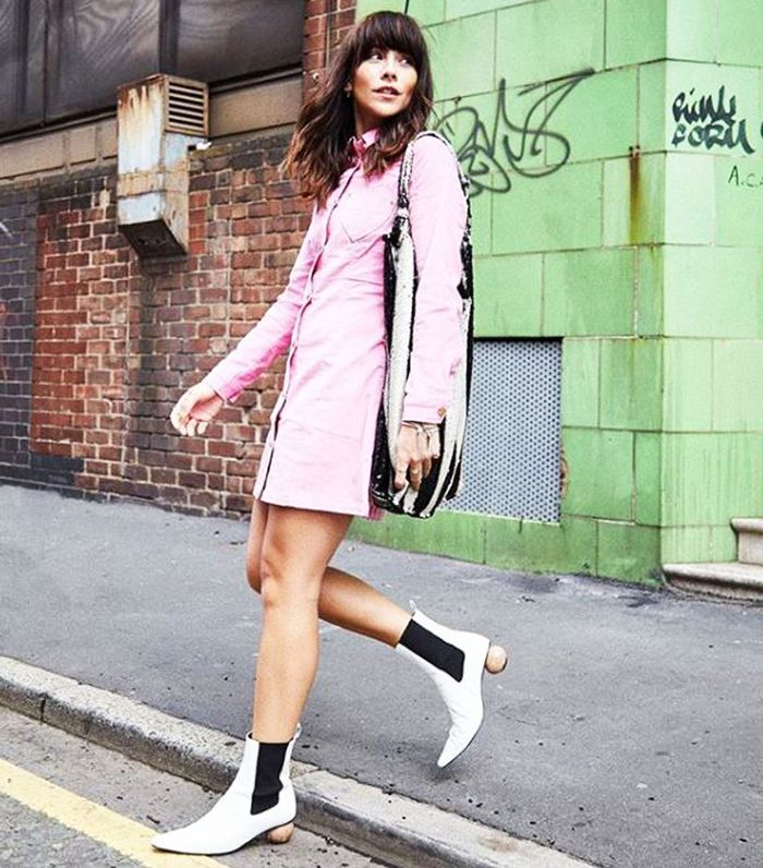 Best Topshop Shoes: Megan Elllaby Wears Topshop Boots