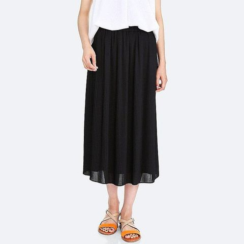 Women's High-waist Chiffon Pleated Skirt