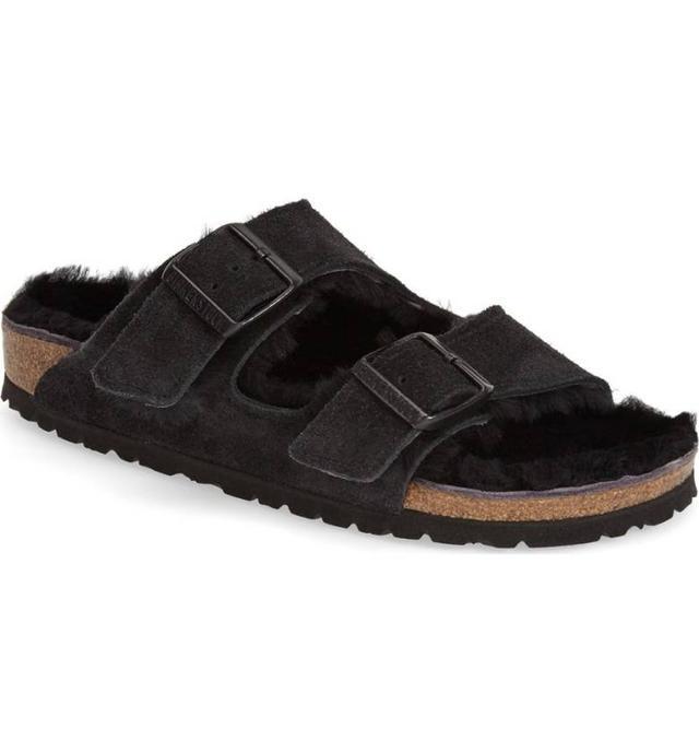 'Arizona' Genuine Shearling Lined Sandal