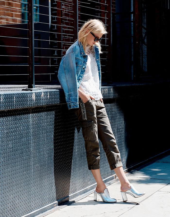 denim jacket street style
