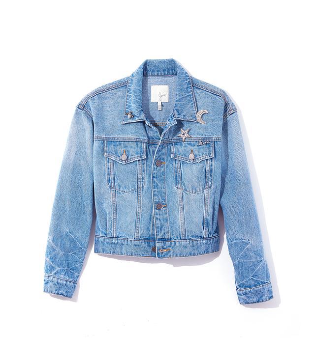 Joie Redmondia Denim Jacket With Broaches