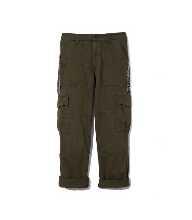 Joie Embellished Cotton Cargo Pants